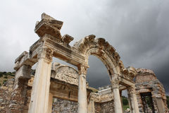 Hadrian,以弗所(Efes),土耳其寺庙  图库摄影