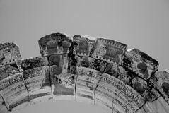Hadrian, Ephesus,土耳其寺庙, 免版税库存照片