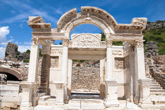 Hadrian, Ephesus,土耳其寺庙, 免版税库存图片