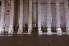 Hadrian, Il Tempio di阿德里亚诺寺庙  图库摄影