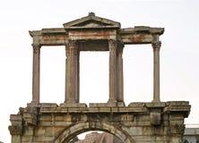 hadrian ärke- athens Grekland Fotografering för Bildbyråer