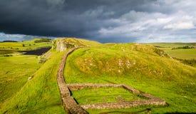 Hadrian ściana, Anglia zdjęcia royalty free
