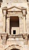 Hadrian细节,杰拉什-约旦曲拱  库存图片