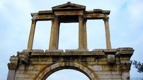 Hadrian 132 A曲拱  d 在雅典,希腊 免版税库存图片