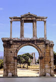 Hadrian Arch. Famous arch of Hadrian in Athens, Greece Stock Photos