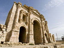 Hadrian Arch of Triumph, Jerash royalty free stock photos