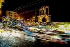 Hadrian bramy sobotniej nocy samochodu febra Fotografia Stock
