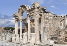 Висок Hadrian, Ephesos, Турция Стоковые Фото