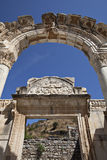 Висок Hadrian, Ephesus, Izmir, Турция Стоковая Фотография