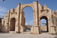 Hadrian Gate. Hadrian triumph gate in Jerash Royalty Free Stock Image