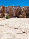 The Hadrian Gate in Petra town in winter Stock Photography