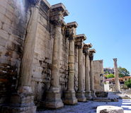 Hadrian Library in Athene, Griekenland Stock Foto
