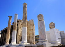 Hadrian Library in Athene, Griekenland Stock Foto's