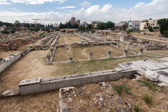 Hadrian Library Athens Greece Royalty Free Stock Photos