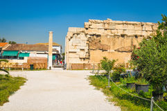 Hadrian Library in Athens, Greece Stock Photography