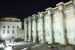 Hadrian Library e mesquita de Tzisdarakis Foto de Stock