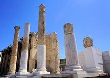Hadrian Library i Aten, Grekland Arkivfoton