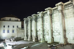 Hadrian Library and Tzisdarakis Mosque Stock Photo