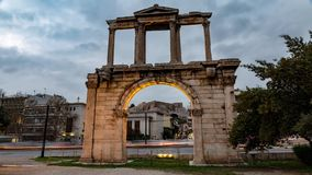 Hadrian port i vinterdag arkivfilmer