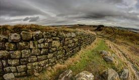 Hadrian/Roman Muur Stock Afbeelding