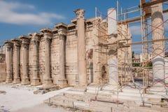 Hadrian ` s图书馆在雅典,希腊 库存照片