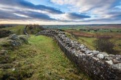 Hadrian ` s墙壁,诺森伯兰角 免版税图库摄影