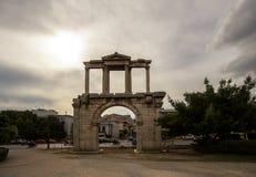 Hadrian ` s门,雅典,希腊 免版税图库摄影