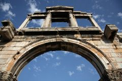 Hadrian's Arch. In Athens, Greece Royalty Free Stock Photography