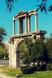 Hadrian`s Arch in Athens. Hadrian`s Arch, Athens, Greece Royalty Free Stock Photo