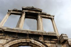 Hadrian`s Arch. In Athens - Greece Stock Image