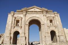 Hadrian's Arch in Jerash Stock Photos