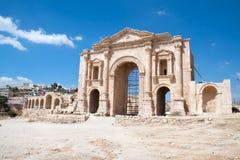 Hadrian's Arch , Jerash, Jordan Royalty Free Stock Images