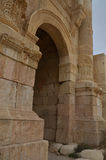 Hadrian's Arch, Jerash. Hadrian's Arch in Jerash, Jordan, built in 129 AD to commemorate the visit of Emperor Hadrian to the city Royalty Free Stock Photo