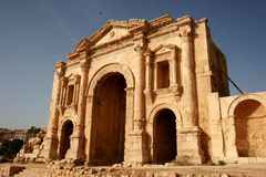 Hadrian's Arch in Jordan Royalty Free Stock Photo