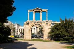 Hadrian ` s brama, Ateny dziejowy centrum, Grecja Obraz Royalty Free