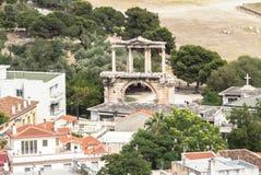 Hadrian ` s brama, Ateny, Grecja Zdjęcie Stock