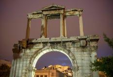 Hadrian& x27; s brama, Ateny, Grecja Zdjęcia Royalty Free