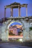 Hadrian ` s brama, Ateny, Grecja Zdjęcia Royalty Free