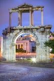 Hadrian ` s brama, Ateny, Grecja Obrazy Stock