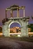 Hadrian ` s brama, Ateny, Grecja Obraz Stock