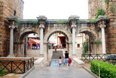 Hadrian's gate Stock Photos