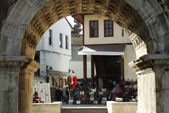 Hadrian's gate. In old town of Antalya, Turkey Royalty Free Stock Photography