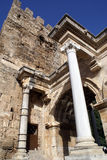 Hadrian's gate. Hadrian's old gate in Antalya, Turkey Royalty Free Stock Photo
