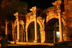 Hadrian's gate. Antalya - turkiye architectural and historical building Royalty Free Stock Image