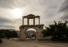 Hadrian`s Gate, Athens, Greece. Hadrian`s Gate in Athens, Greece Royalty Free Stock Photography