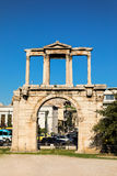 Hadrian`s gate, Athens historical center, Greece. Stock Photo