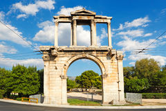 Hadrian's Gate, Greece. Arch of Hadrian (132 A.D.) in Athens, Greece Royalty Free Stock Image