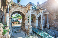 Hadrian's Gate in old city of Antalya Stock Photography