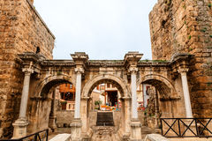 Hadrian`s Gate in old city of Antalya, Turkey. Royalty Free Stock Image