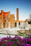 Hadrian's Library, Athens. Stock Images